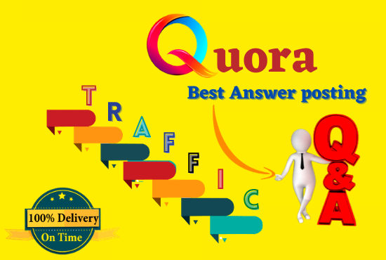 I will promote your website 20 highly Quora answer with backlinks