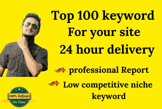 I will do Best keyword research and competitors analysis