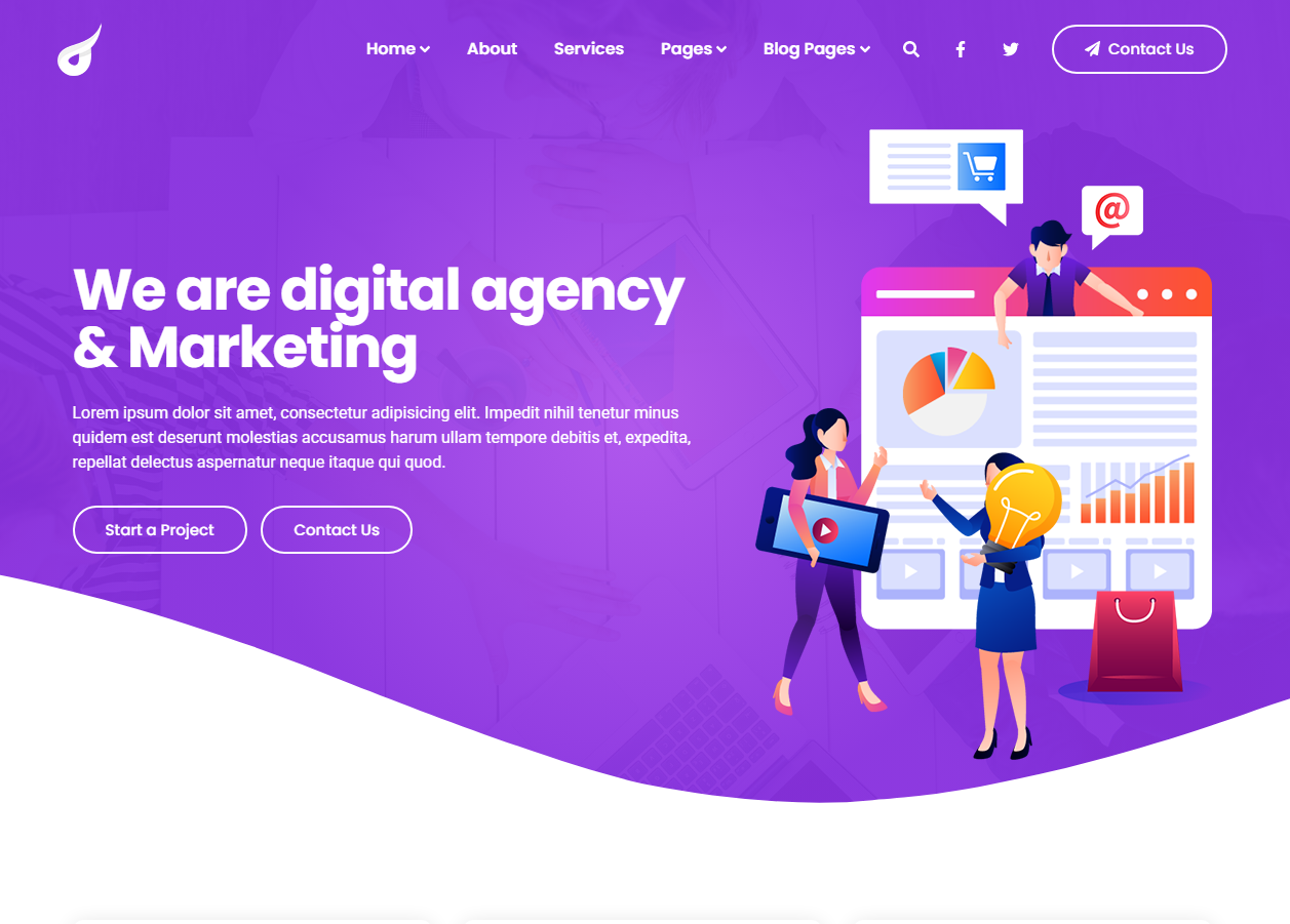 Full one page dynamic business website - advance contact page