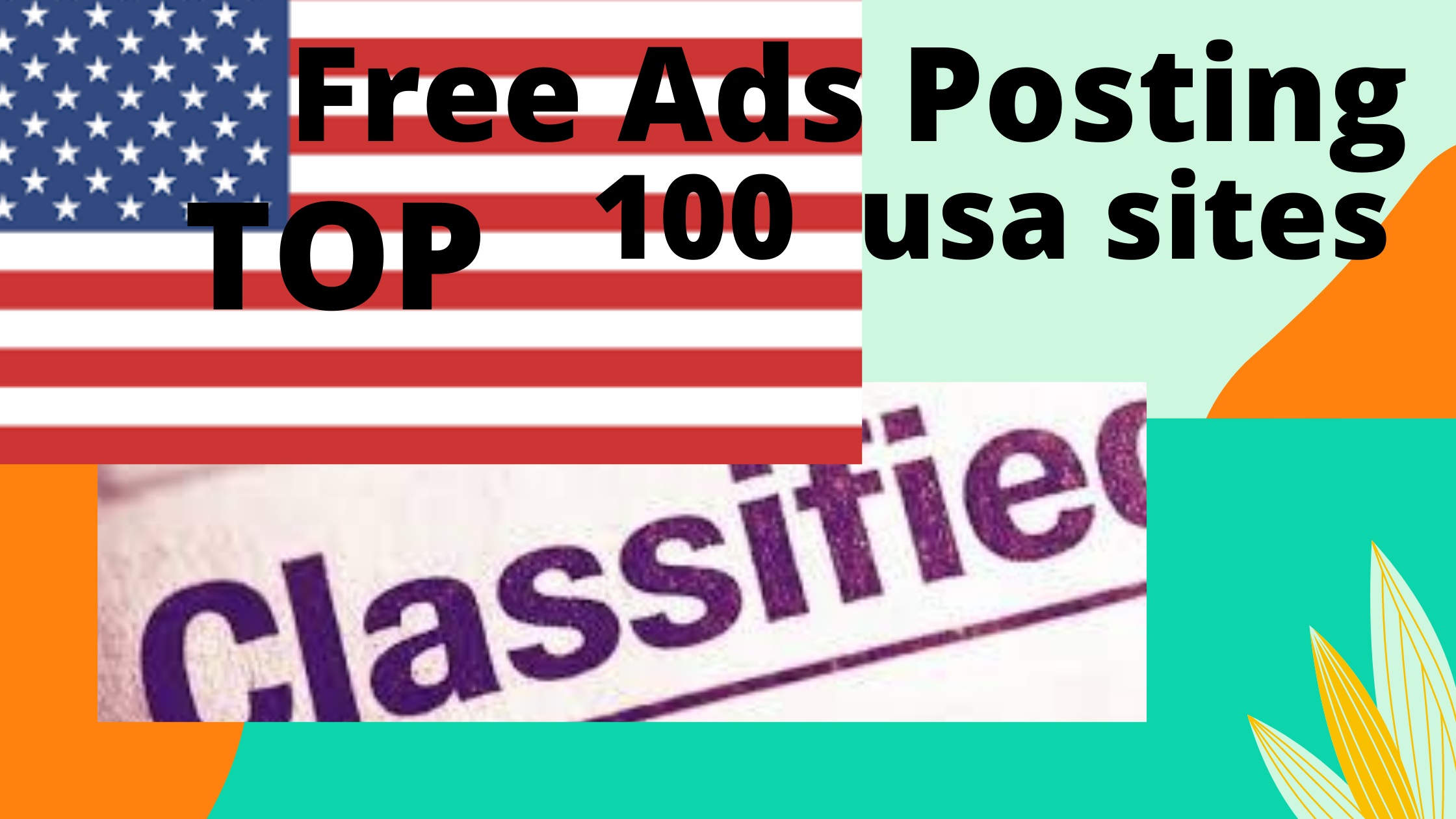 I will do best effective classified ad posting in USA manually