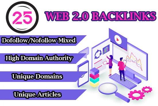 build 25 web 2 0 backlinks manually for google ranking