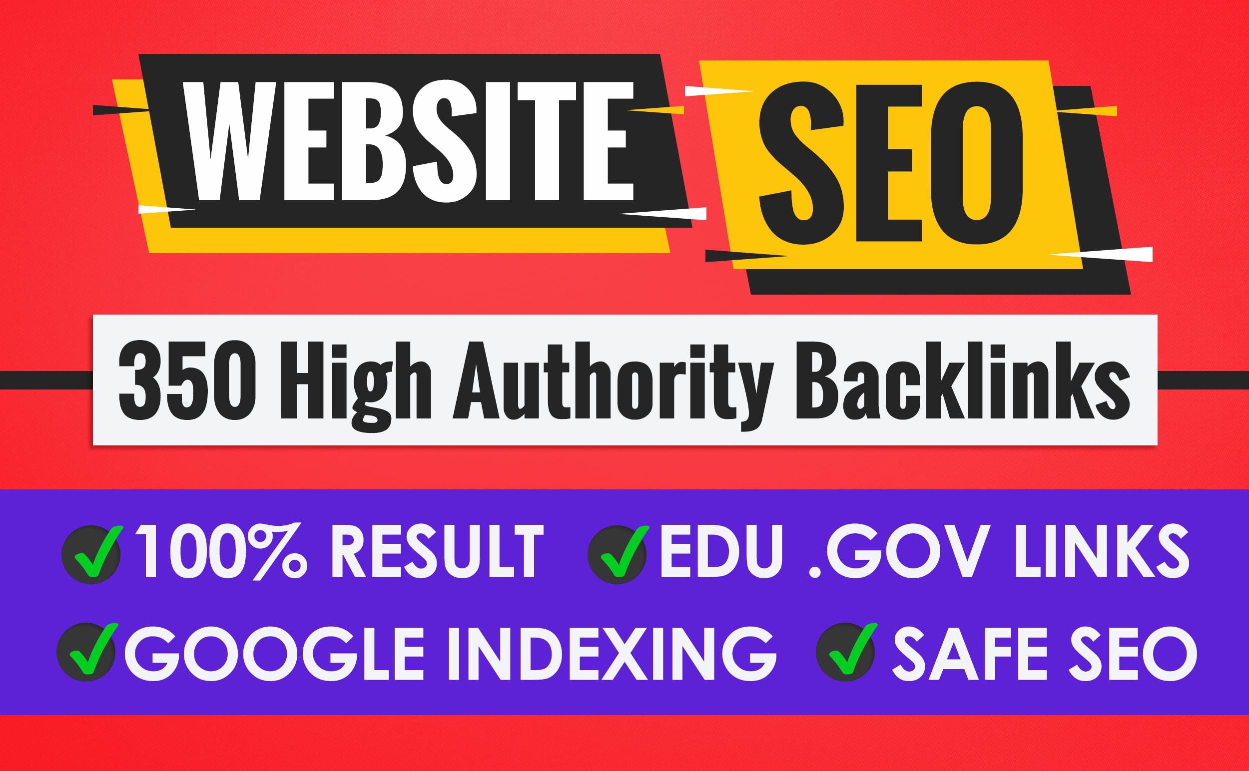 do 350 unique high authority backlinks, link building for website seo