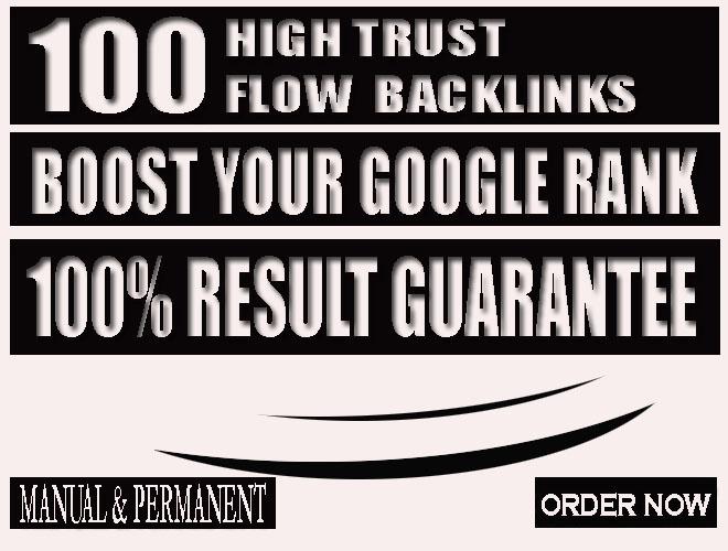 do boost rank with 100 high trust flow backlinks, tf cf seo links