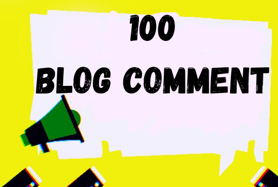 I Will Do 100 Organic BLOG COMMENT