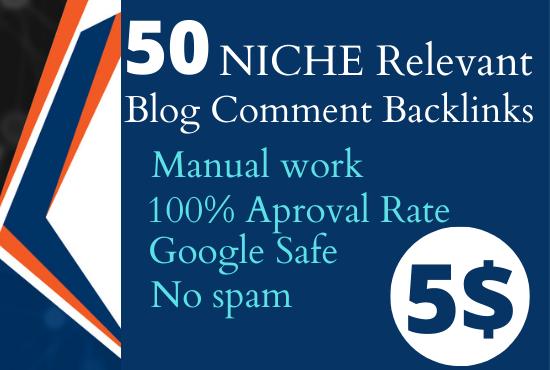 I Will Do 50 NICHE RELEVANT BLOG COMMENT