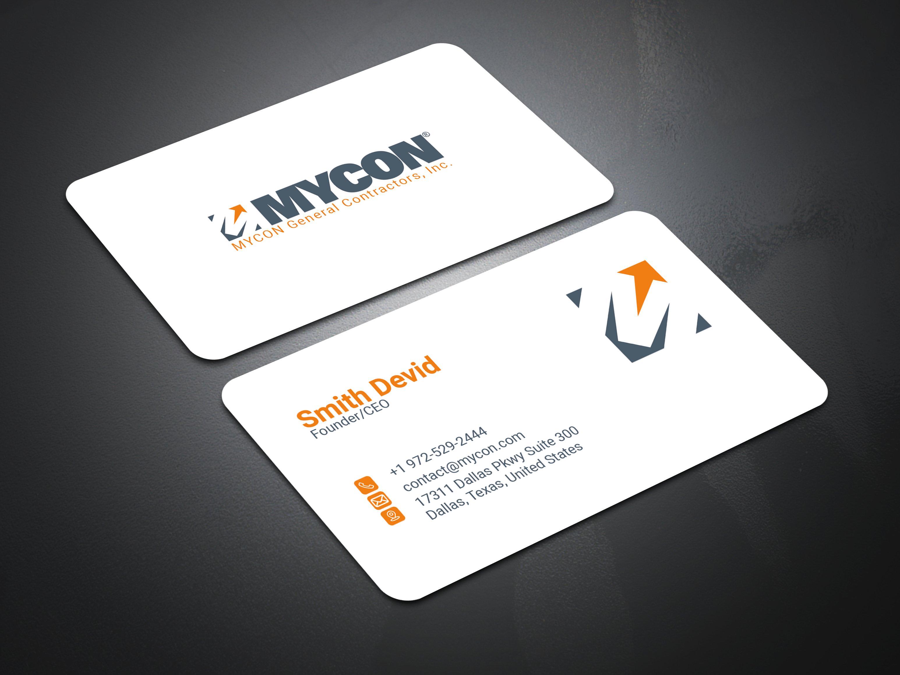 I will design a professional minimalist business card