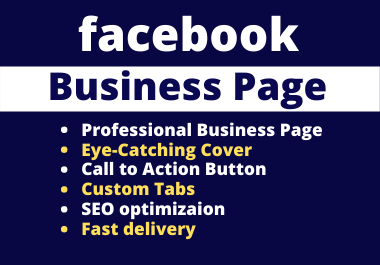 I will create,  design and optimize Facebook Business Page,  FB Shop