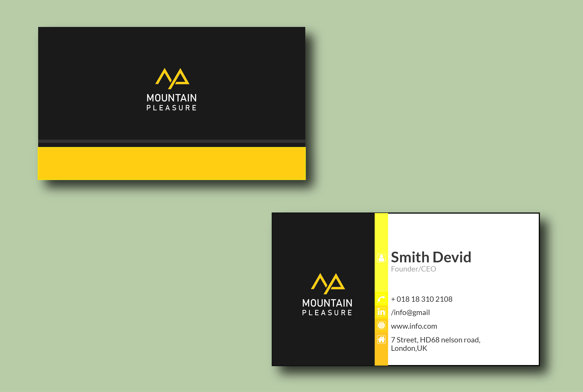I will design outstanding minimalist business card