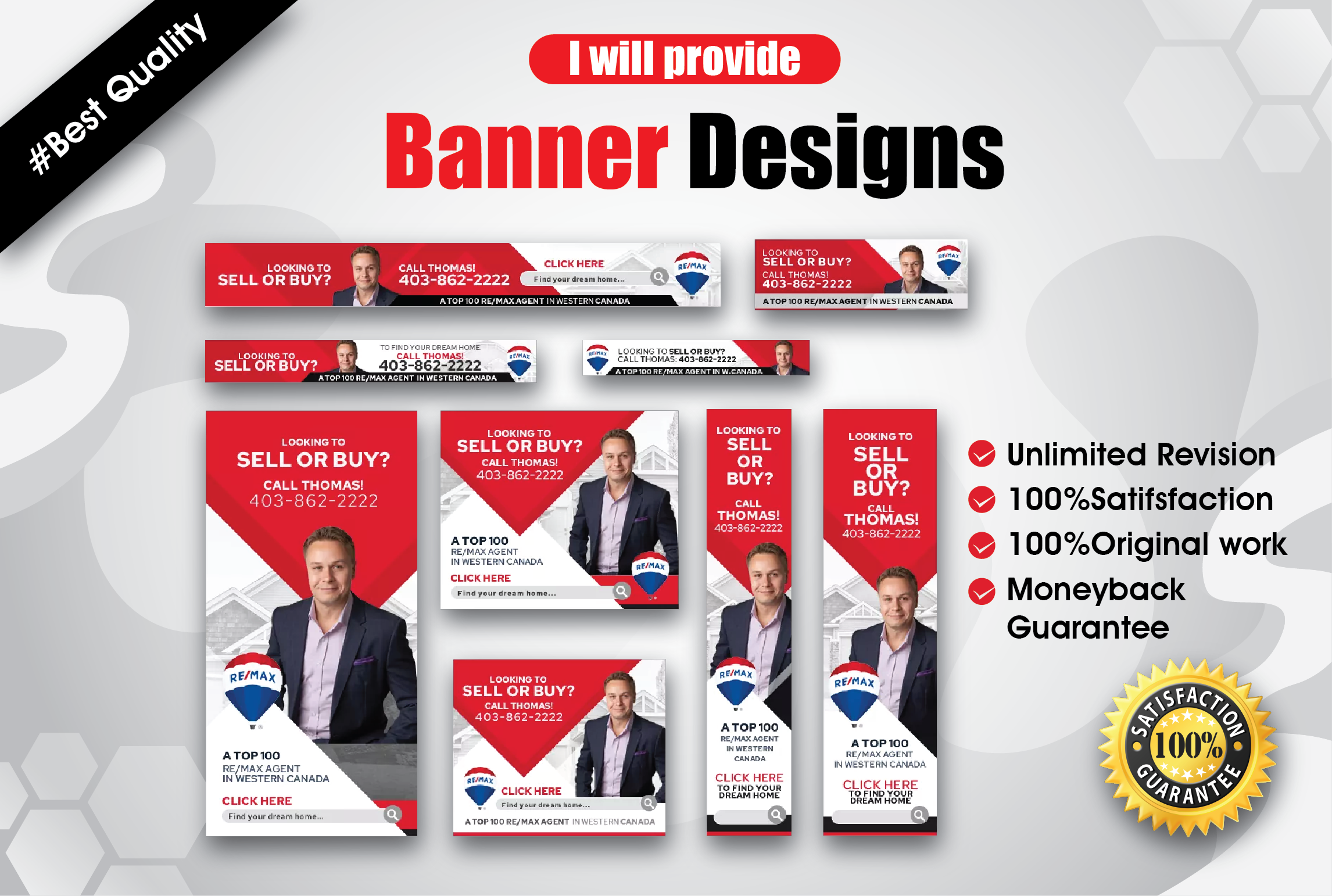 I will design all types of static and animation banners for your business