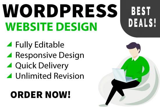I will develop responsive wordpress website design