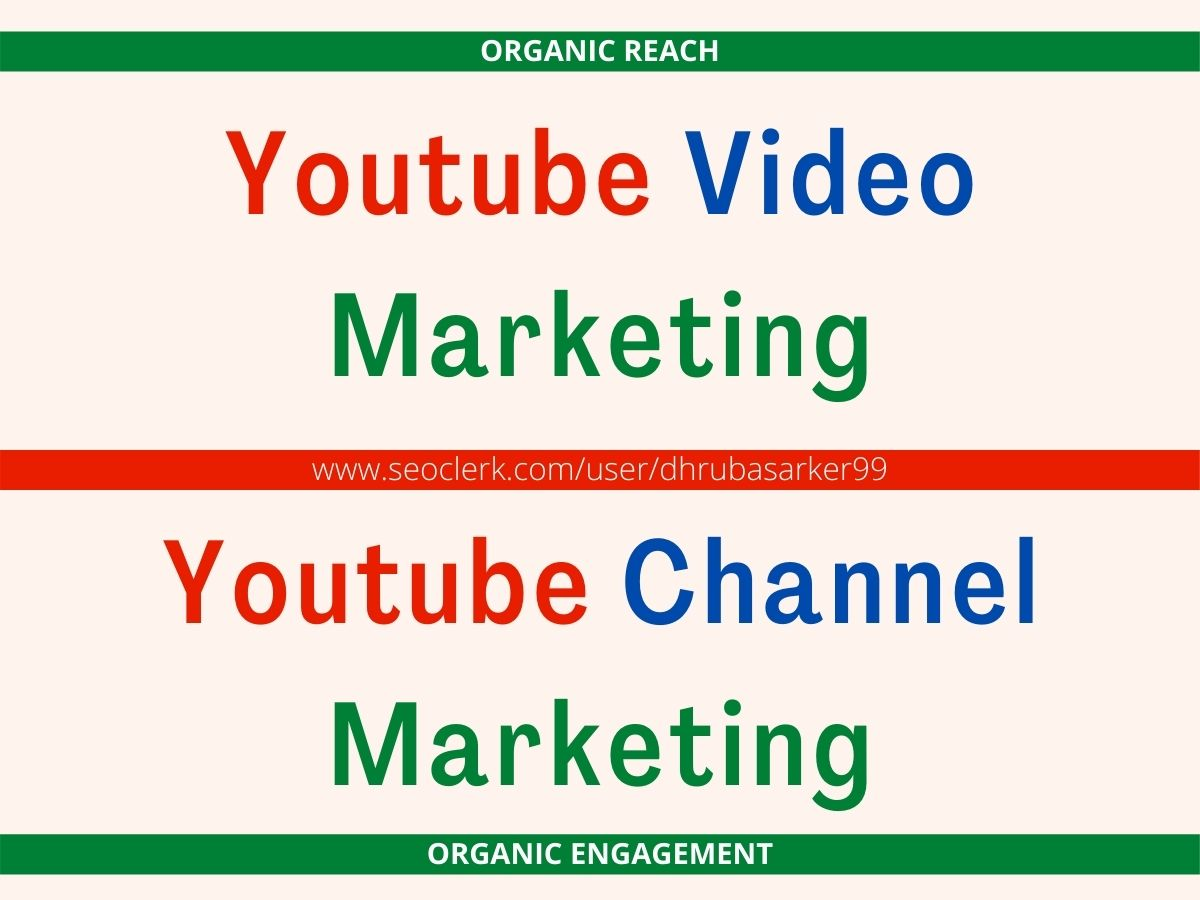 I will do super fast Youtube Video Marketing and increase organic reach