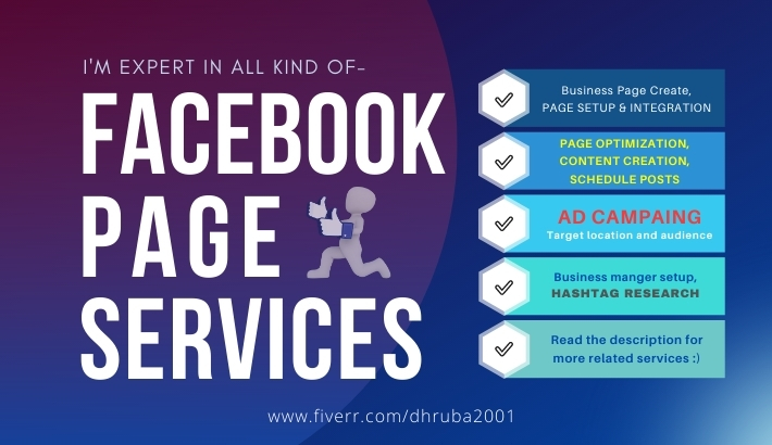 I will Create,  Setup and SEO Optimize your Facebook business page