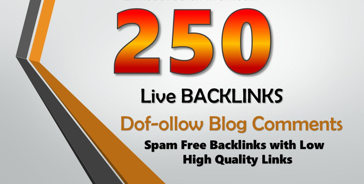 I will do 250 Manual blog comments backlinks