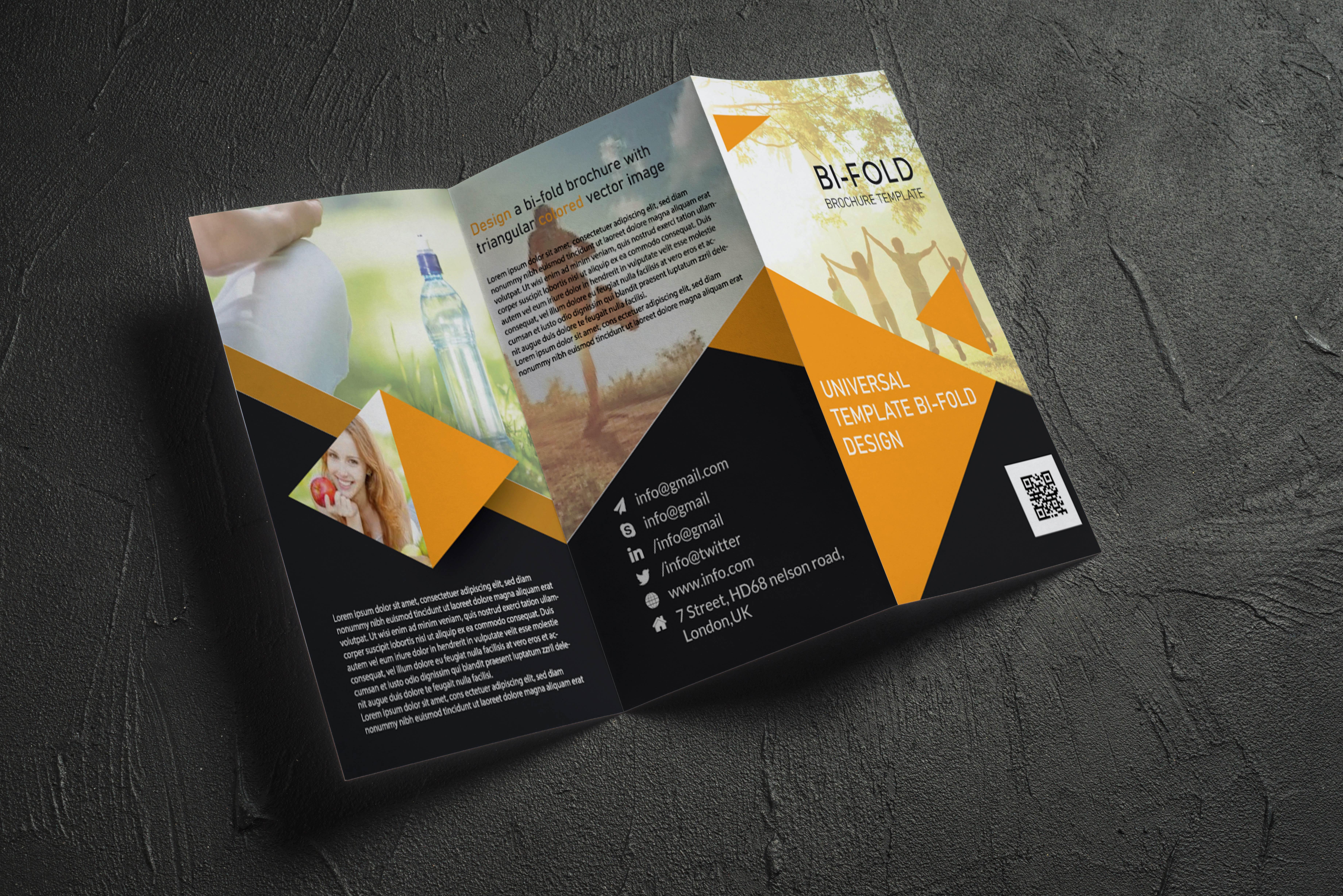 I will design trifold,  bifold brochure,  flyer,  leaflet,  book cover,  postcard