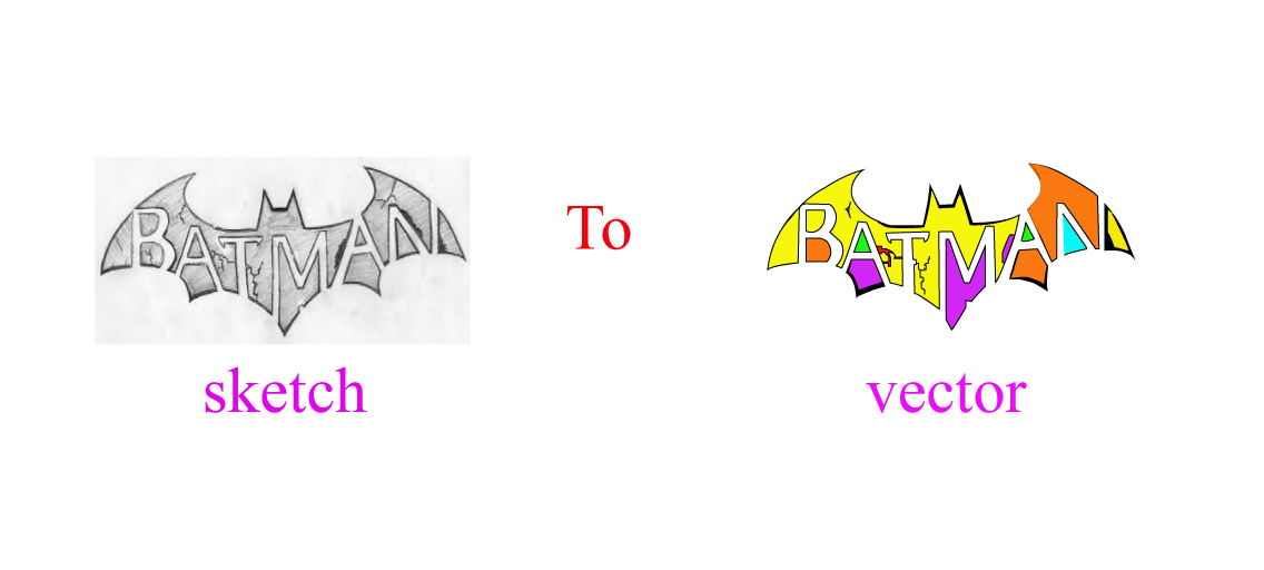 I will do sketch to vector using illustrator and logo design