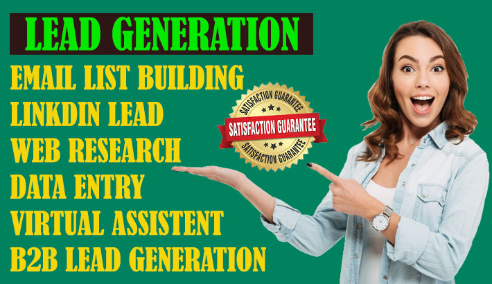 I will do b2b lead generation and web research,  data entry