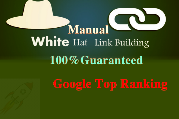 I will provide 100 SEO backlinks white hat manual link building service for google top ranking