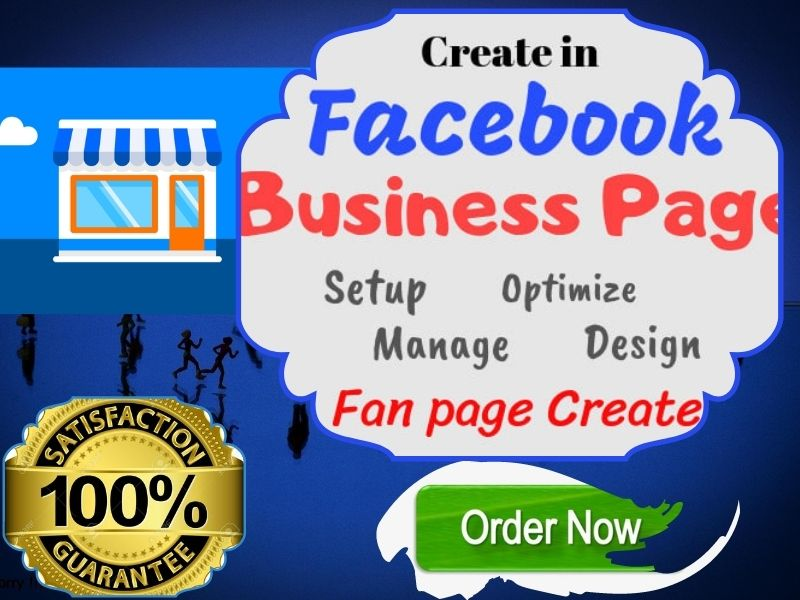 I Will Create facebook business page,  optimize and design