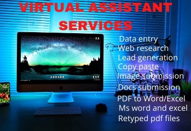 I will be your perfect Virtual Assistant for data entry,  lead generation and web research