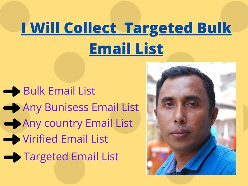 I will provide you targeted email list collection