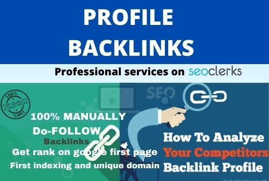 I will do 20+ permanent profile backlinks manually
