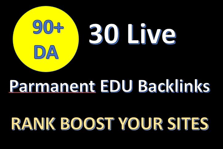 I will Provide 90+ DA 30 Active Parmanent EDU/GOV Backlinks for Safe Google Rank