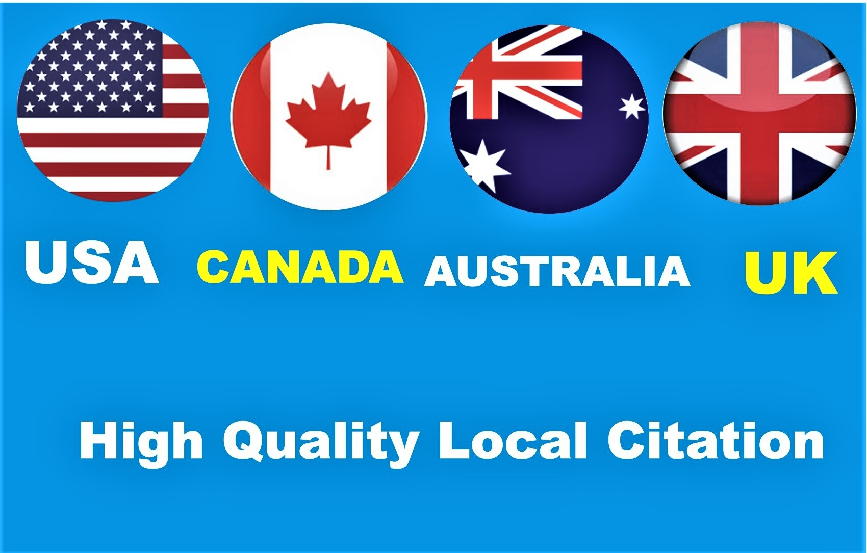I will provide 30 top quality Local Citations backlinks for your targeted location