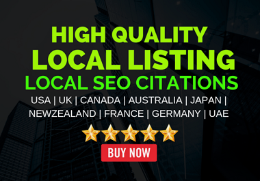 Build 30 local citations to top local directories with any country