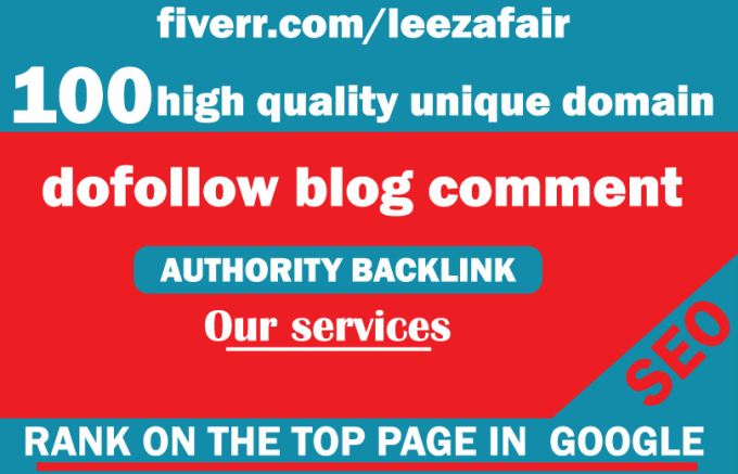 Do 250 high quality unique domain do follow blog comment backlink