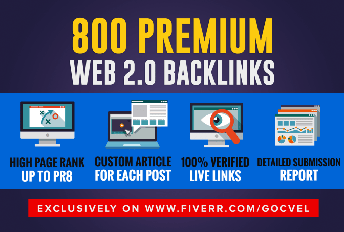 Provide 20 premium web 2 0 backlinks to boost your ranking