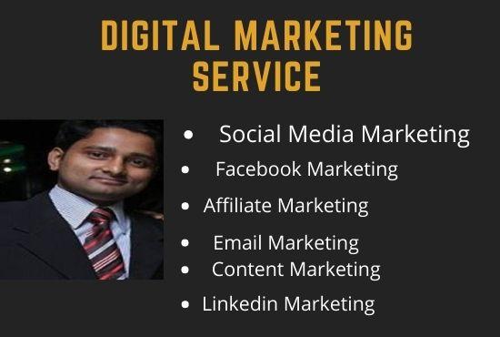 I Will do do Social Media Marketing Manager & Affiliate Marketing Manager