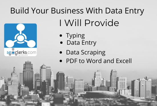 Data entry excel word typing and data scraping