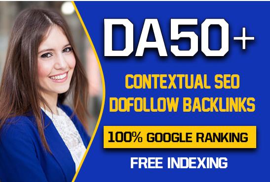 I will create 500 high quality contextual SEO dofollow backlinks