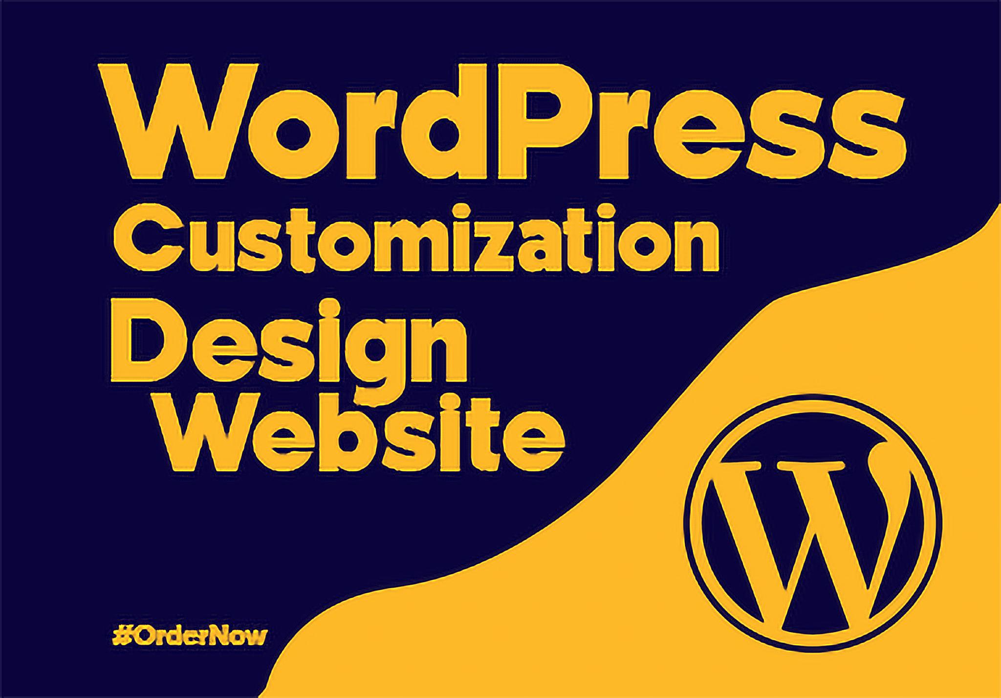 Professional Responsive WordPress Website Design & Customization