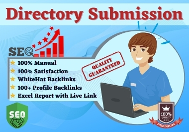 I will do 100+ directory submission Backlinks Manually