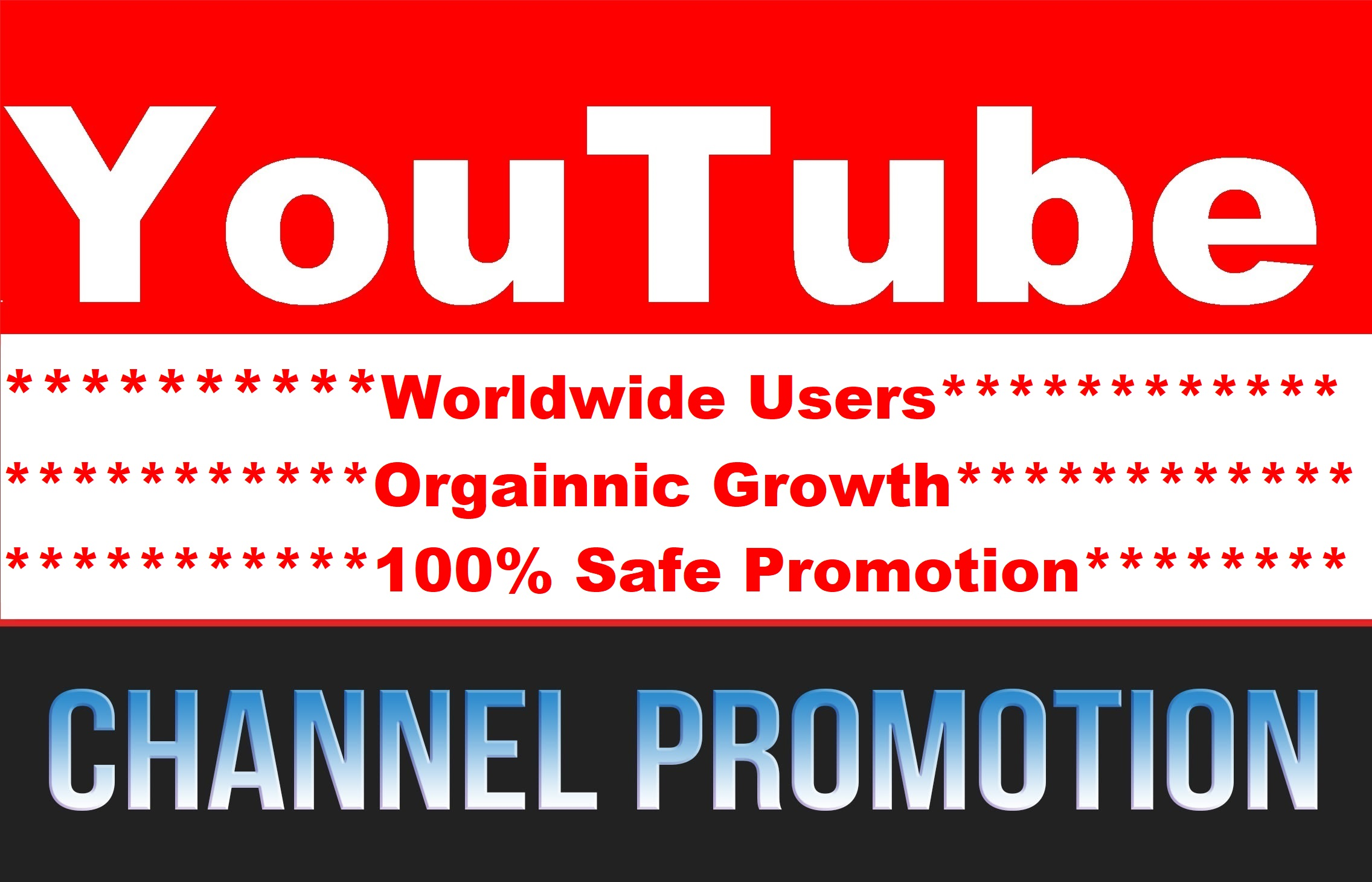 YouTube Video Visitor or Account Promotion Social Media Boosting