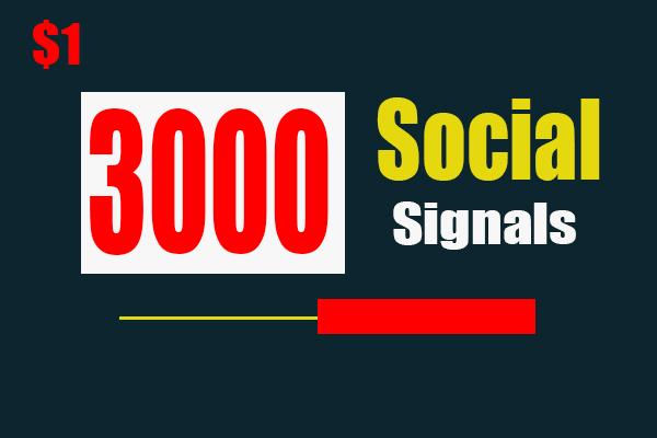 Create 3000 High Quality PR9-PR10 Social Signals Backlinks from Best social Media Website
