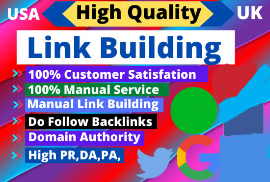 I will do high quality dofollow SEO backlinks link building for google top rankings