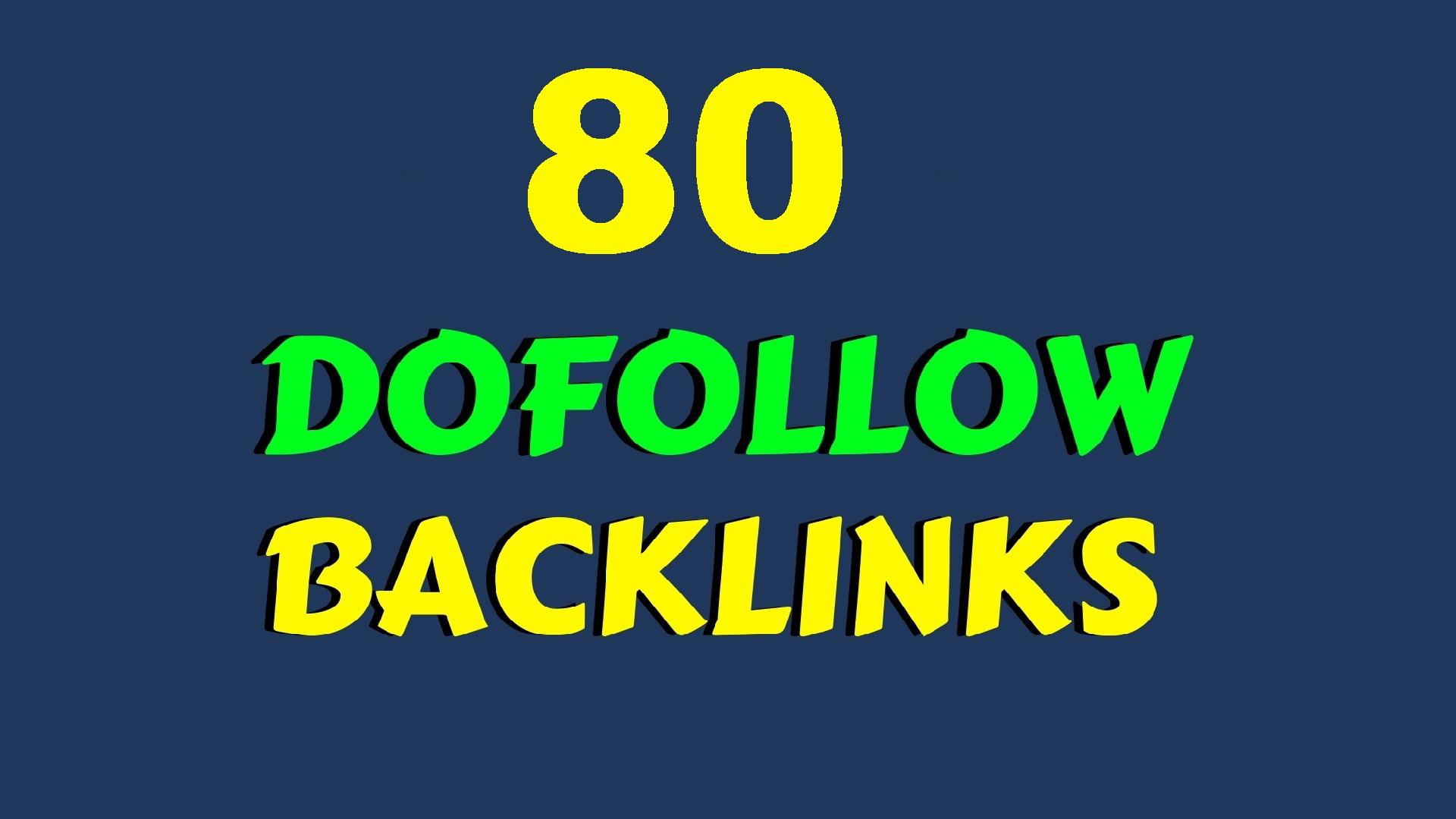 HIGH PR 80 Do follow Social and BLOG COMMENTS BACKLINKS