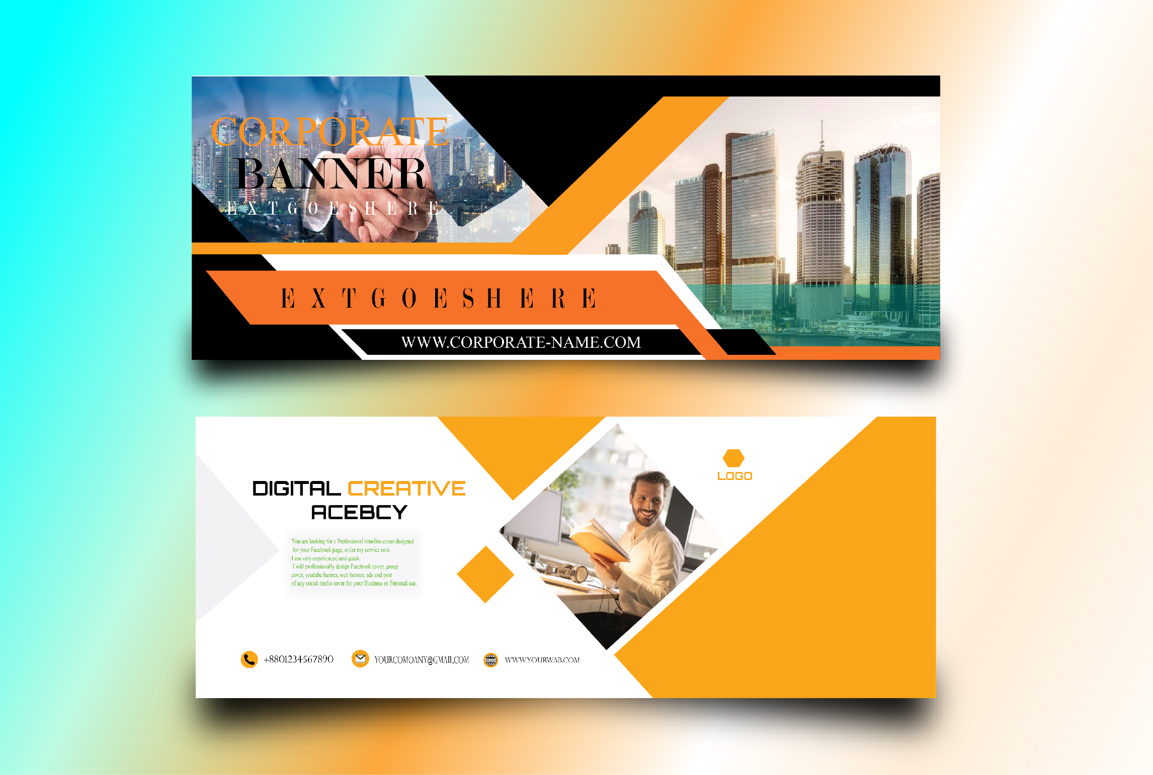 I will design creative and professional any social media banner,  post or cover photo