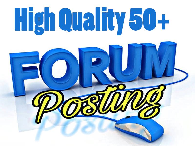 I will provide 50+ Forum Postings High Authority SEO Backlinks
