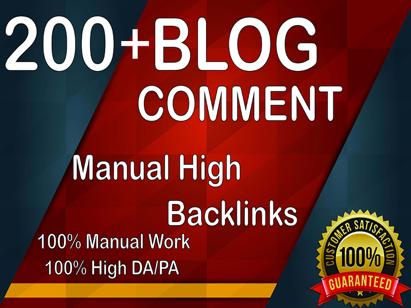 I Will Provide 200+ Blog Comment Backlinks,  All Backlink is a High Quality.
