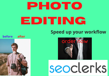 I will do any professional photo shop editing