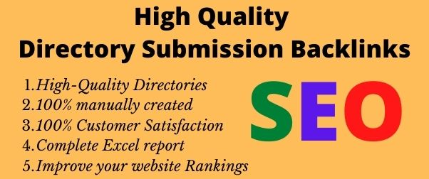 I will create 30 High Quality Directory Submission Backlinks