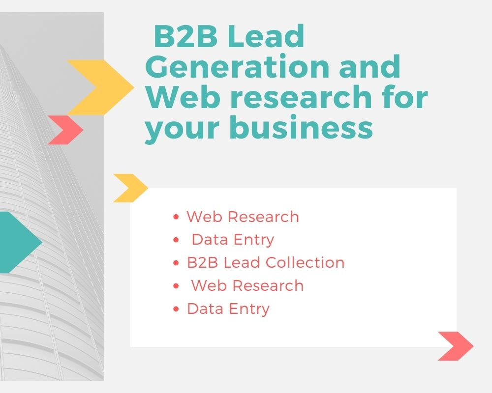 I will give you b2b lead generation and web research for your business