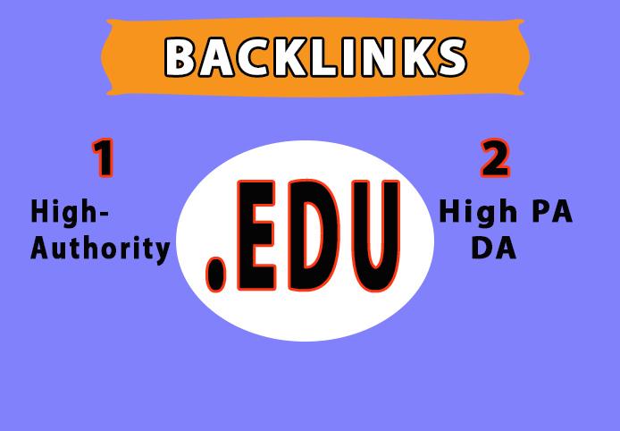 Provide you 100. EDU High Authority Backlink