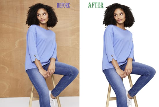 I will do hair masking in photoshop of your photo