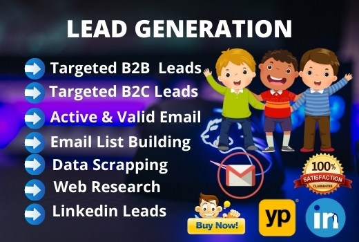I will do 50 targeted b2b lead generation job with email list