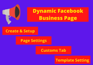 I will design modern & dynamic facebook Business page.