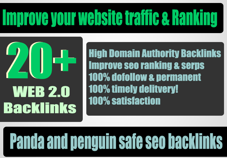 Build 20+ Backlink with high DA 38+ PA 40+, DOFOLLOW with 20+ Unique website
